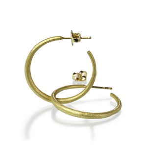 John Iversen 18k Medium Hoops | Quadrum Gallery