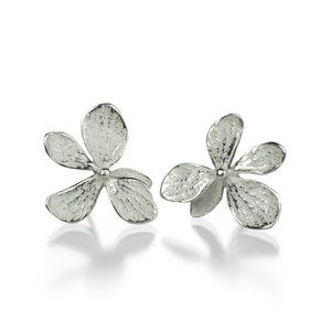 John Iversen Sterling Silver Single Hydrangea Studs | Quadrum Gallery