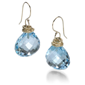 Jamie Joseph Swiss Blue Topaz Earrings | Quadrum Gallery