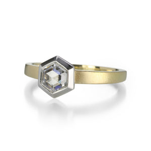 Jamie Joseph Mixed Metal Hexagonal Diamond Solitaire Ring | Quadrum Gallery