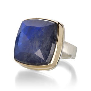 Jamie Joseph Rose Cut Square Rainbow Moonstone Ring | Quadrum Gallery