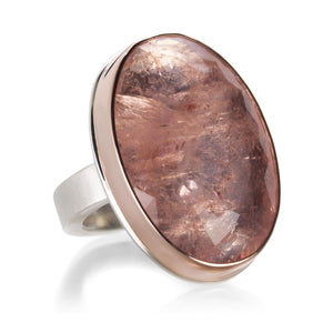 Jamie Joseph Large Oval Morganite Ring | Quadrum Gallery
