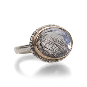 Jamie Joseph Rose Cut Tourmalinated Quartz Ring | Quadrum Gallery