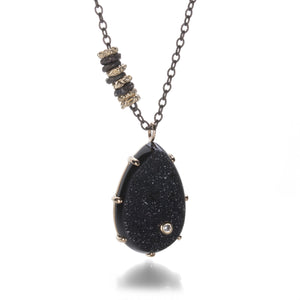 Jamie Joseph Brazilian Black Druzy Necklace | Quadrum Gallery