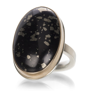 Jamie Joseph Pyrite in Schist Ring | Quadrum Gallery