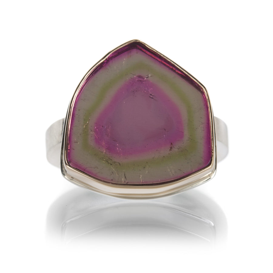 Jamie Joseph Watermelon Tourmaline Slice Ring | Quadrum Gallery