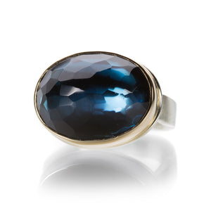 Jamie Joseph Oval London Blue Topaz Ring | Quadrum Gallery