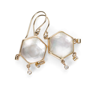 Jamie Joseph Hexagonal Mother of Pearl Earrings | Quadrum Gallery