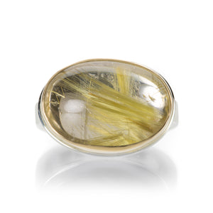 Jamie Joseph Oval Rutilated Quartz Ring | Quadrum Gallery