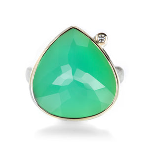 Jamie Joseph Inverted Lotus Chrysoprase Ring | Quadrum Gallery