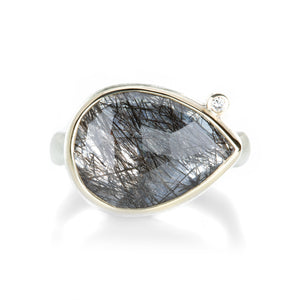 Jamie Joseph Teardrop Rutilated Quartz Ring | Quadrum Gallery