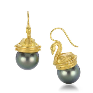 Lilly Fitzgerald Swan Pearl Earrings | Quadrum Gallery