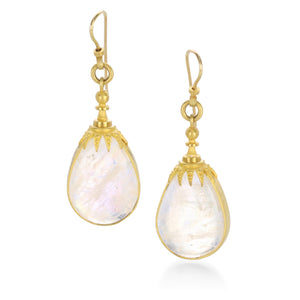 Lilly Fitzgerald 22k Rainbow Moonstone Earrings | Quadrum Gallery