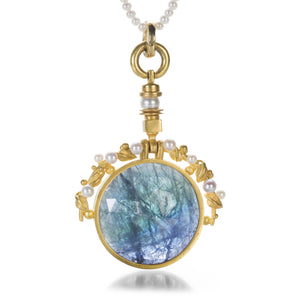 Lilly Fitzgerald Pearl Necklace with Tanzanite Pendant | Quadrum Gallery