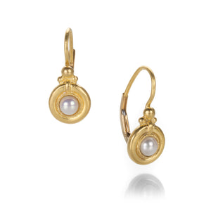 Lilly Fitzgerald Pearl Drop Earrings | Quadrum Gallery