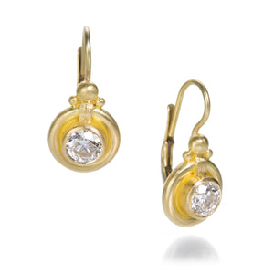 Lilly Fitzgerald Diamond Drop Earrings with Lever Backs | Quadrum Gallery