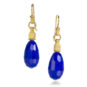 Lilly Fitzgerald Faceted Lapis Drop Earrings | Quadrum Gallery