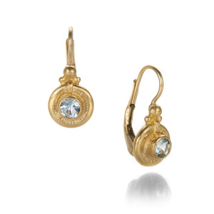 Lilly Fitzgerald Aqua Granulated Drop Earrings | Quadrum Gallery