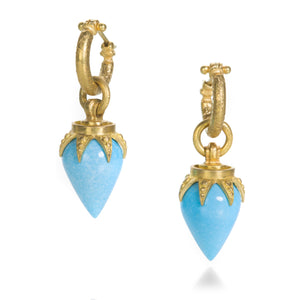 Lilly Fitzgerald Turquoise Drops with Hoops | Quadrum Gallery