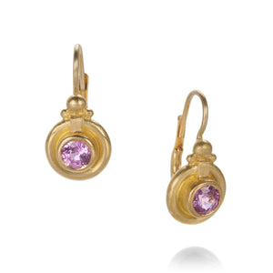 Lilly Fitzgerald Pink Tourmaline Drop Earrings | Quadrum Gallery