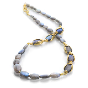 Lilly Fitzgerald 6 Beetle Labradorite Necklace | Quadrum Gallery