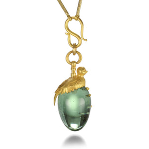 Lilly Fitzgerald Glass Egg with Bird Necklace | Quadrum Gallery