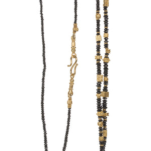Lilly Fitzgerald Black Diamond and Gold Bead Necklace | Quadrum Gallery