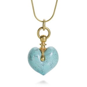 Lilly Fitzgerald Chinese Turquoise Heart Necklace | Quadrum Gallery