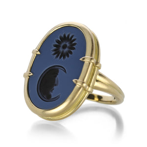 Lilly Fitzgerald Sun and Moon Intaglio Ring | Quadrum Gallery