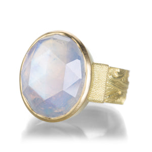 Lilly Fitzgerald Large Rainbow Moonstone Ring | Quadrum Gallery