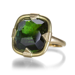 Lilly Fitzgerald German Cut Green Tourmaline Ring | Quadrum Gallery