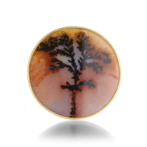 Lilly Fitzgerald Dendritic Agate Pin | Quadrum Gallery