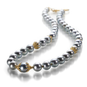 Lilly Fitzgerald South Sea Gray Pearl Necklace | Quadrum Gallery