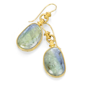 Lilly Fitzgerald Bi-Color Tanzanite Earrings | Quadrum Gallery