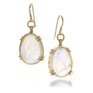 Lilly Fitzgerald Large Rainbow Moonstone Earrings | Quadrum Gallery