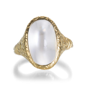 Lilly Fitzgerald Oval White Moonstone Ring | Quadrum Gallery