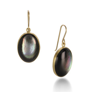 Maria Beaulieu Black Mother of Pearl Earrings | Quadrum Gallery