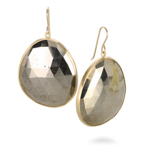Pyrite Rose-Cut Earrings