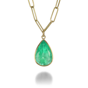Maria Beaulieu Pear Shaped Emerald Pendant (Pendant Only) | Quadrum Gallery