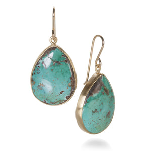 Maria Beaulieu Pear Shaped Turquoise Earrings | Quadrum Gallery