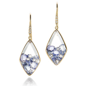 Moritz Glik Blue Sapphire Kaleidoscope Shaker Earrings | Quadrum Gallery
