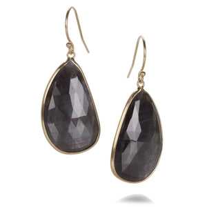 Margaret Solow Asymmetrical Gray Sapphire Earrings | Quadrum Gallery