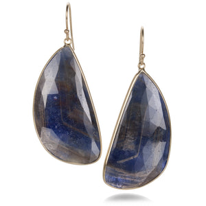 Margaret Solow Asymmetrical Blue Sapphire Earrings | Quadrum Gallery