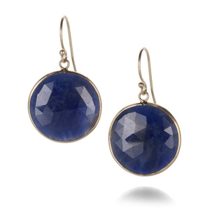 Margaret Solow Round Blue Sapphire Earrings | Quadrum Gallery