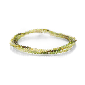 Margaret Solow Ombre Green Tourmaline Triple Wrap Bracelet | Quadrum Gallery