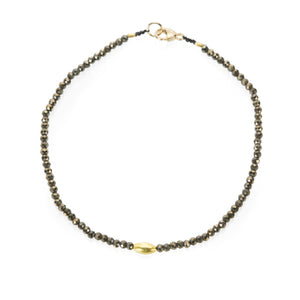 Margaret Solow Pyrite and Gold Bead Bracelet | Quadrum Gallery
