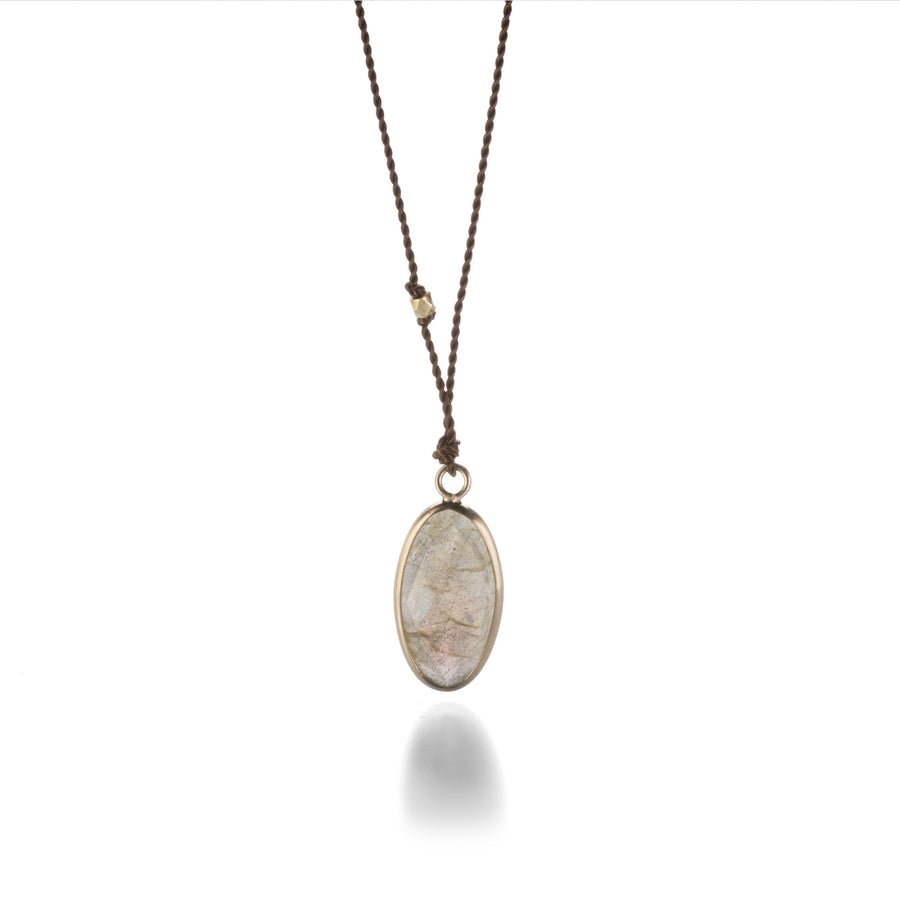 Margaret Solow Small Oval Labradorite Necklace | Quadrum Gallery