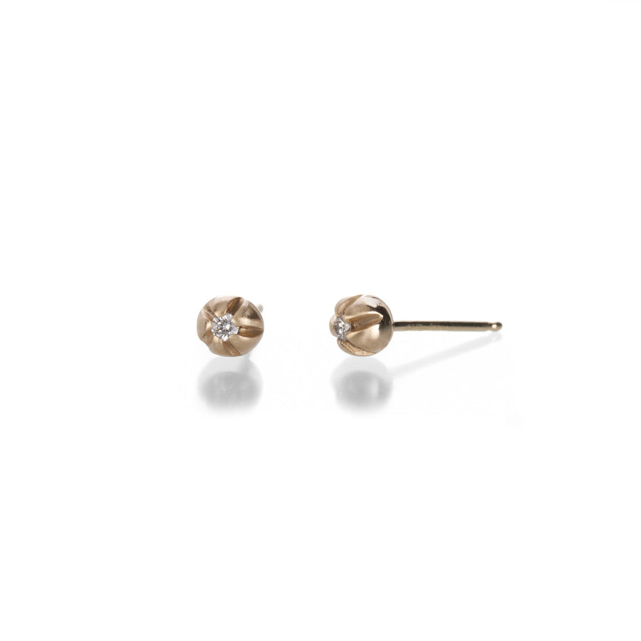 Nicole Landaw Yellow Gold Medium Blossom Studs | Quadrum Gallery