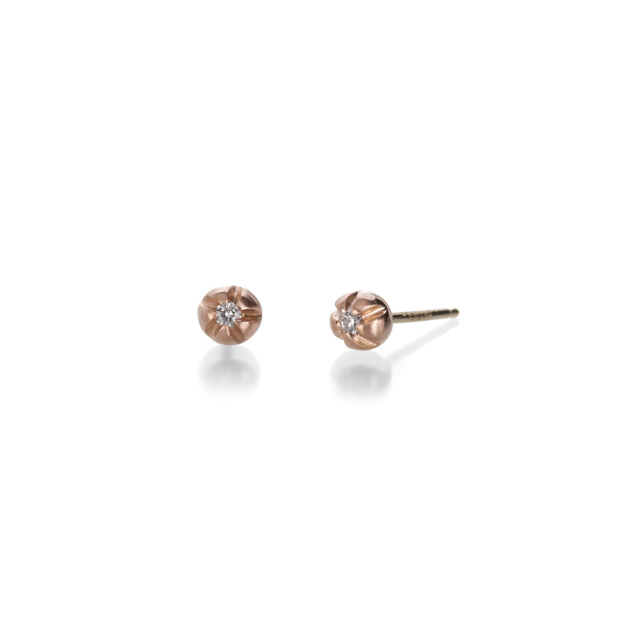 Nicole Landaw MEDIUM Rose GOLD BLOSSOM STUD EARRINGS | Quadrum Gallery