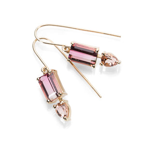 Nicole Landaw Tourmaline and Topaz Earrings  | Quadrum Gallery